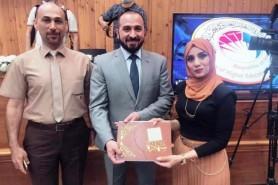 طالبة في قسم الهندسة الكهربائية تحصل على المركز الاول على جامعات العراق بجائزة مشروع التخرج المتميز